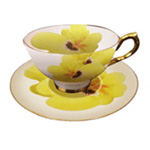 Flower Afternoon Tea Cup Set