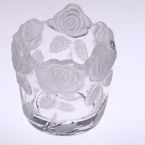 Glass Candle Holder- FL-007